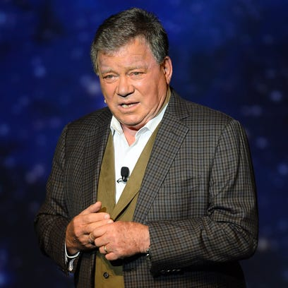 "Actor William Shatner performs during his one-man show, ""Shatner's World: We Just Live In It"" at the MGM Grand Hotel/Casino on June 19, 2014, in Las Vegas."