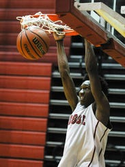 Bosse's Mekhi Lairy can dunk, even though he is generously listed as 5-9.