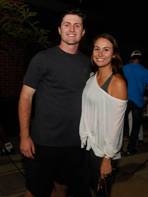 Auburn pitcher Casey Mize with his girlfriend, Tali Milde, after the game against LSU Friday, May 18, 2018,  at Hitchcock Field at Plainsman Park in Auburn, Alabama.