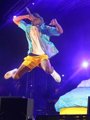 Tyler the Creator, seen performing at the 2015 Coachella Festival, is one of many hip-hop artists generating excitement at the 2018 Coachella.