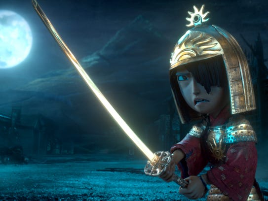 Kubo, voiced by Art Parkinson in a scene from the animated