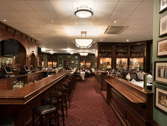Inside Vince Lombardi's Steakhouse are many artifacts