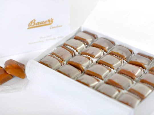 Modjeska candy from the Bauer's Candies, INC.  One pound gift box is $20