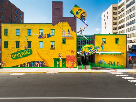 Visitors to Crayola Experience do not get to see the actual factory, but they do learn about how crayons are made.