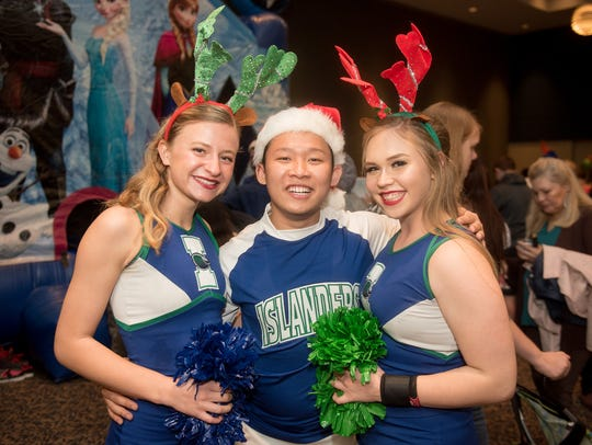 Amanda Christiansen (left), Tommy Tran, and Grace Mansfield