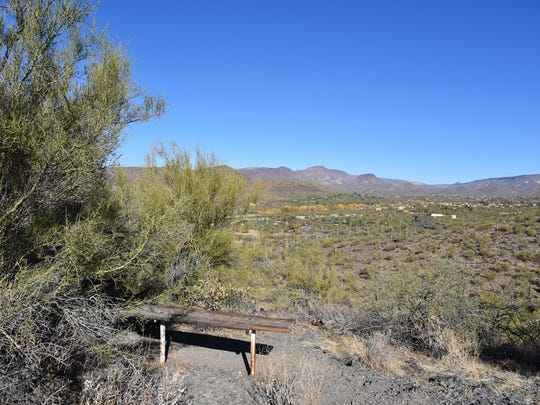 The view from the top of the Overlook Trail in P.A. Seitts Preserve in Cave Creek.