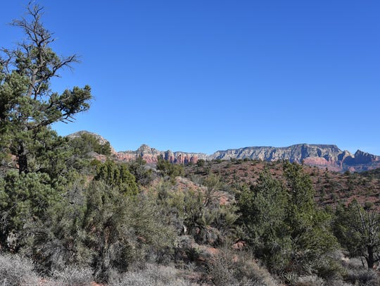 Wilson Mountain can be seen seen from the Carroll Canyon