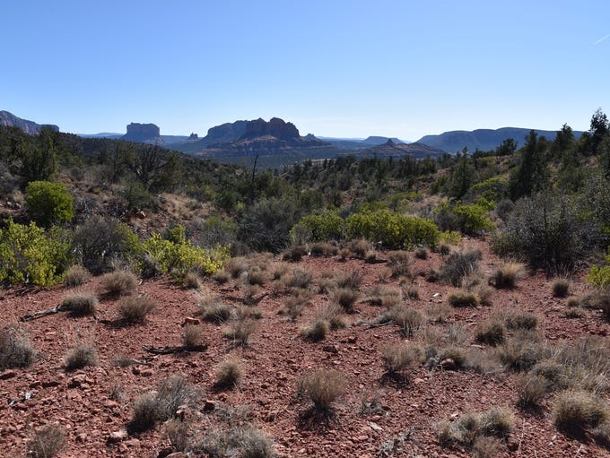 Views of famous Sedona red-rock formations can be seen