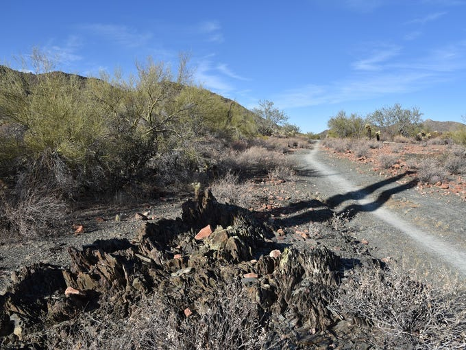 The Slate Trail in Cave Creek Regional Park is easy