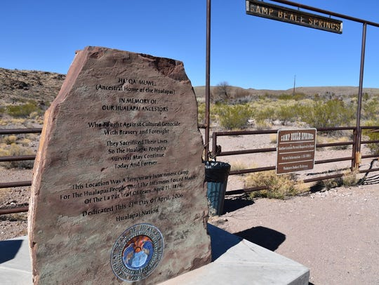 This marker near Cerbat Hills Recreation Area in Kingman