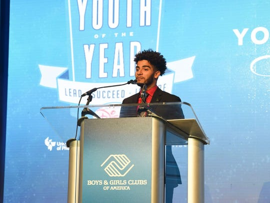 Carlos Polanco accepting the Boys & Girls Clubs of America's National Youth of the Year award in Washington, D.C.