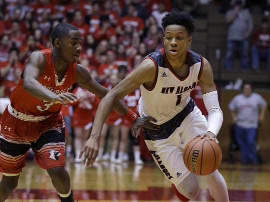 New Albany's Romeo Langford (right) has been the talk of the state this month.