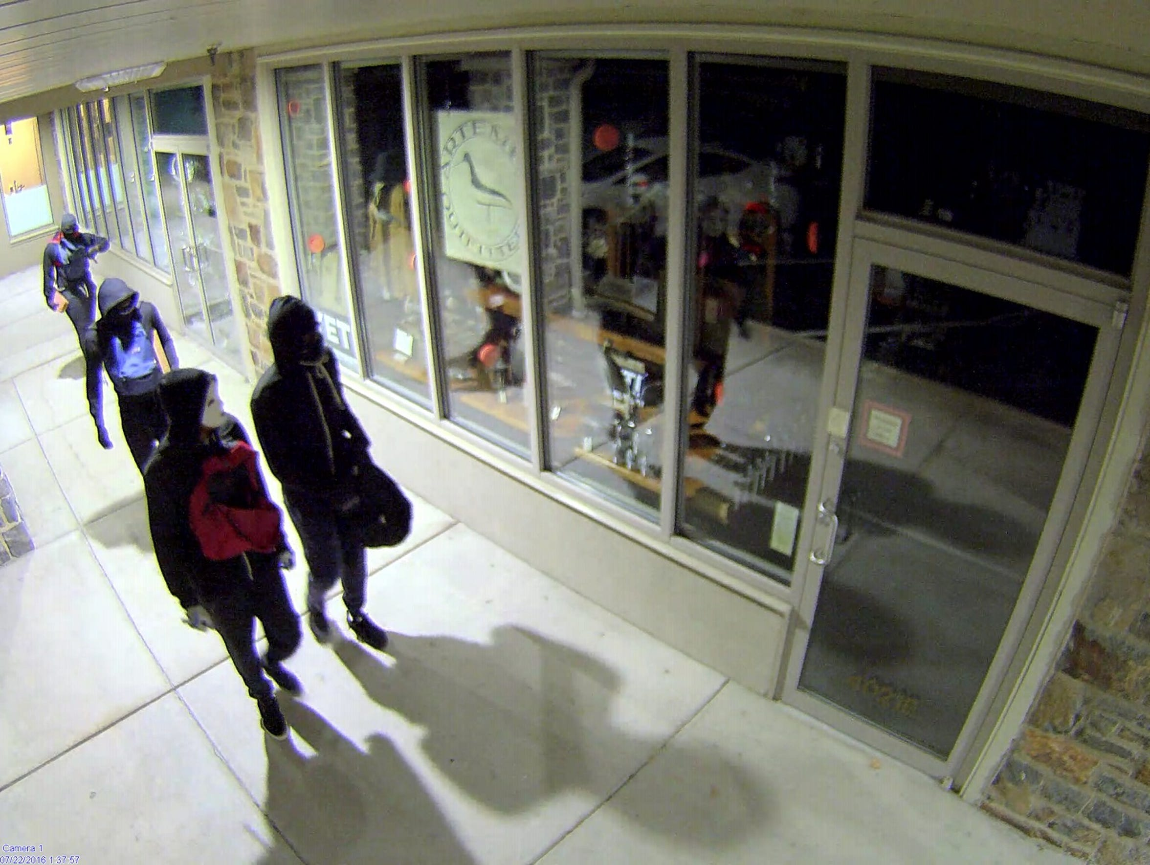 Four young men broke into Artemis Outfitters in Greenville
