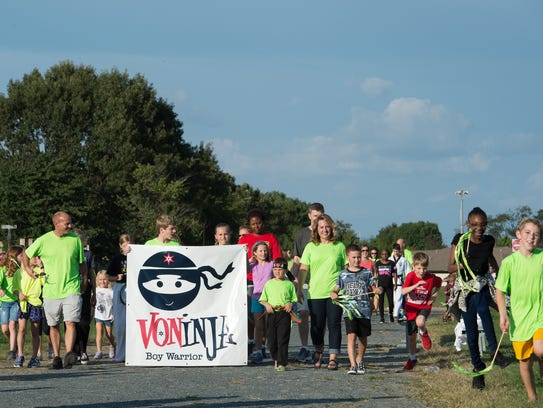 Second-grader Von Kleiv, 7, who was diagnosed with