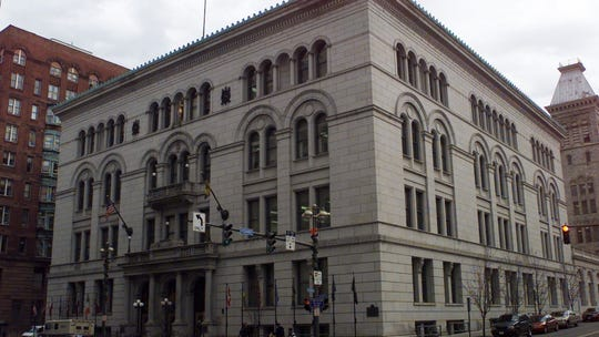 The Monroe County Office Building in Rochester.