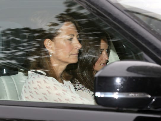 Carole Middleton and Pippa Middleton arrive at Kensington