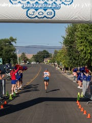 Brandon Nied heads to the finish line during the 48th