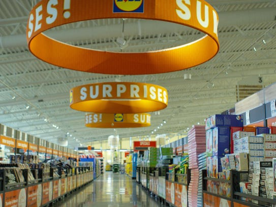 The Surprises area of Lidl offers an ever-changing