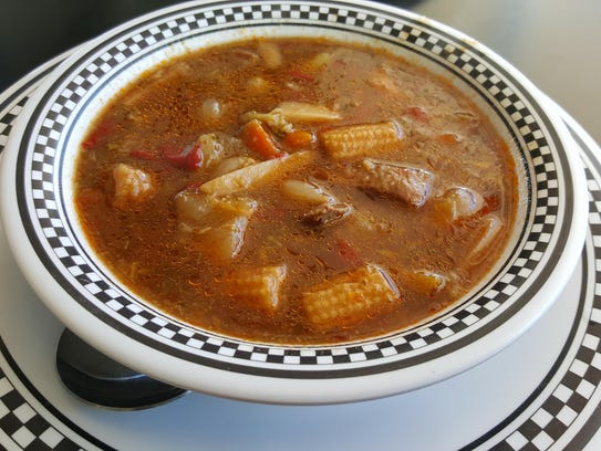 The Vegetable Beef Soup served at Pancake Alley.