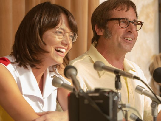 Emma Stone and Steve Carell star in 'Battle of the Sexes.'