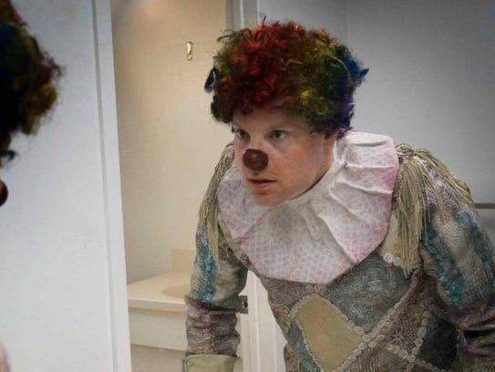 """In """"Clown,"""" Kent (Andy Powers) puts on a mysterious"""