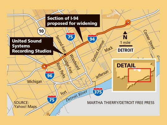 A proposed expansion of I-94 would widen the expressway from Conner Street to I-96.