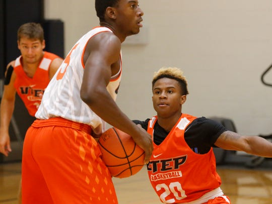 The UTEP basketball team holds its sixth day of practice