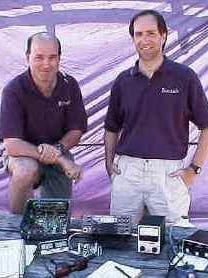 Eric Swartz, left, WA6HHQ, and Wayne Burdick, N6KR, CEOs and co-founders of Elecraft Company.