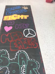 A banner created by Oakridge Middle School students
