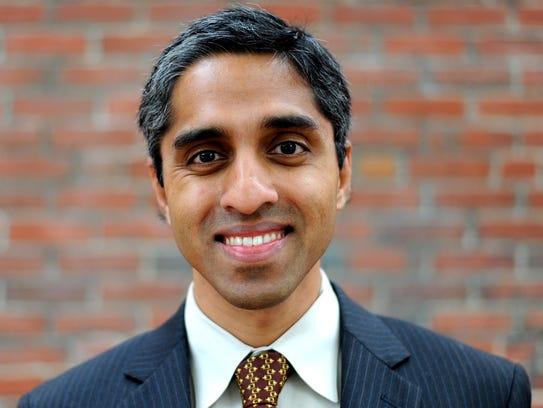 Dr. Vivek Murthy was dismissed April 21 as U.S. surgeon