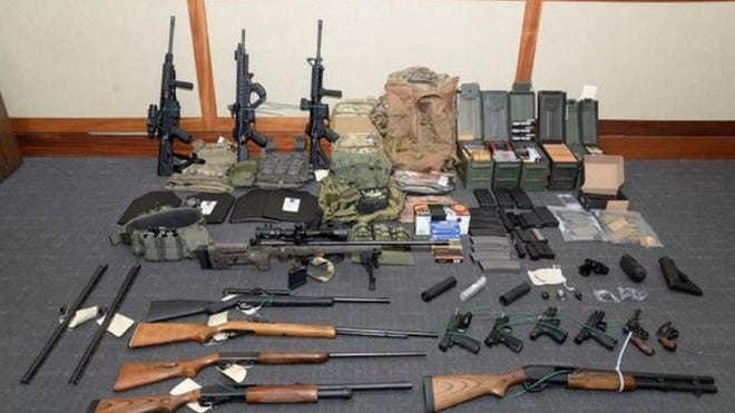 Christopher Paul Hasson allegedly stockpiled guns in preparation for a terror attack. (United States District Court/TNS)
