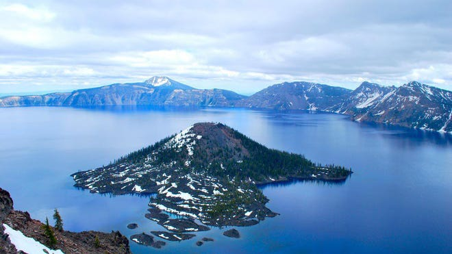 Located high in the Cascade Range in southwestern Oregon, Crater Lake was created when a volcanic peak collapsed nearly 8,000 years ago.