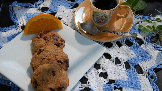 You won't miss the dairy in these vegan Orange Cappuccino cookies.