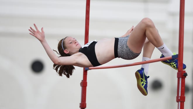 Jenna Rogers of Rutherford, here competing in the high jump at the Elite HS Track & Field Showcase last year, set a Bergen County record on Saturday, Dec. 16, 2017 at the Armory Track in N.Y.