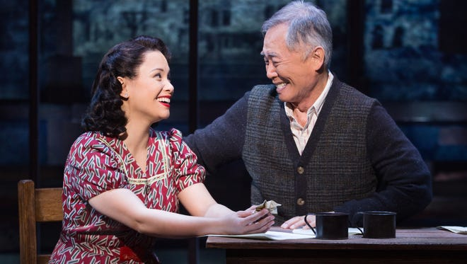 Lea Salonga and George Takei play members of a Japanese-American family interned during World War II in Broadway's 'Allegiance.'