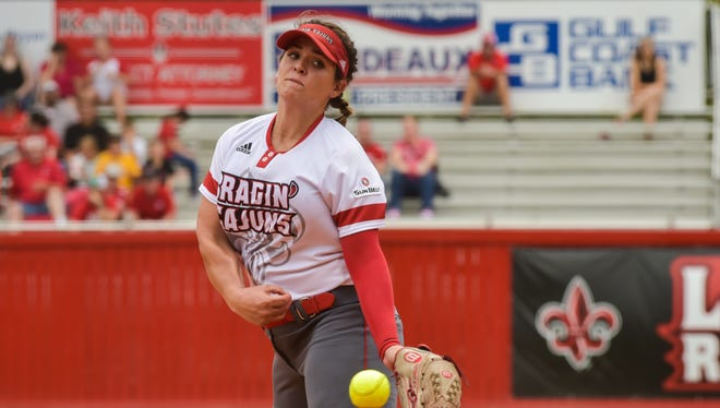 Alex Stewart ran her record to 20-3 on the season with three wins in the circle on senior weekend at Lamson Park.