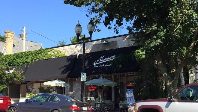 Anodyne Coffee plans to open a cafe at 7471 Harwood Ave., Wauwatosa (far left in photo). Niemann's Candies, 7475 Harwood, plans to expand production into the vacant space between the two.