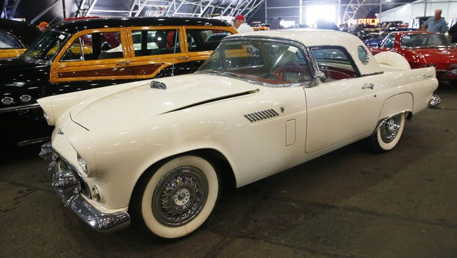 The 1956 Ford Thunderbird owned by reality TV star Kris Jenner is up for bid at the Barrett-Jackson auto auction at WestWorld in Scottsdale.