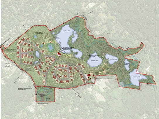 The proposed luxury homes in Bedford consist of single