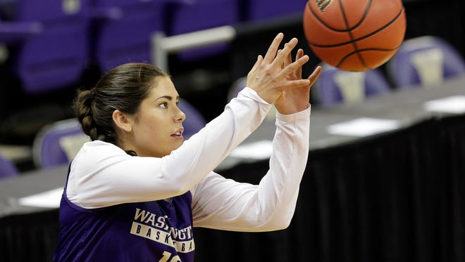 Washington's Kelsey Plum broke NCAA women's records for single-season and career scoring.