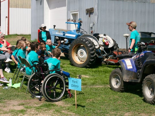 Being safe around farm machinery with power take-off units and ATV's was a key part of the Rural Youth Safety Day.