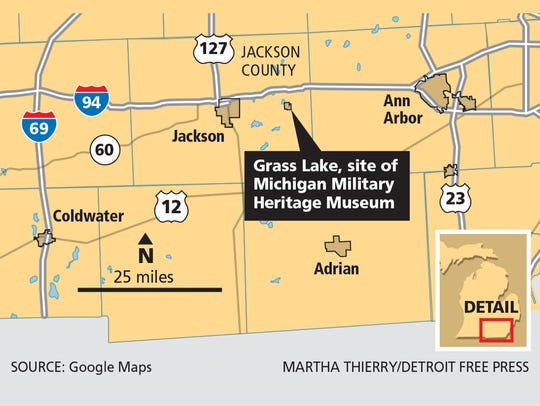 Grass Lake, site of Michigan Military Heritage Museum.