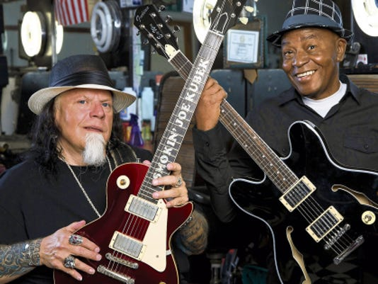 "Blues guitarists Smokin' Joe Kubek and Bnois King are among the artists scheduled to perform at the El Paso Blues and Jazz Festival on May 16-17 at the Chamizal National Memorial. The duo recently released their latest recording, ""Fat Man's Shine Parlor."""