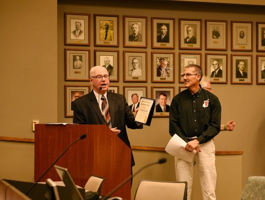 Rick Fechter receives Facility Manager of the Year Award