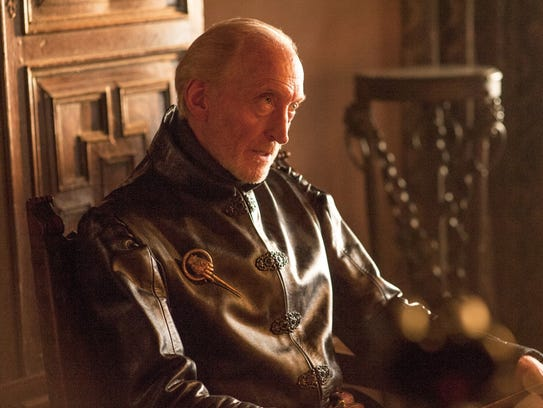 "This image released by HBO shows Charles Dance in a scene from ""Game of Thrones."" The fourth season premieres Sunday at 9p.m. EST on HBO. (AP Photo/HBO, Helen Sloan)"