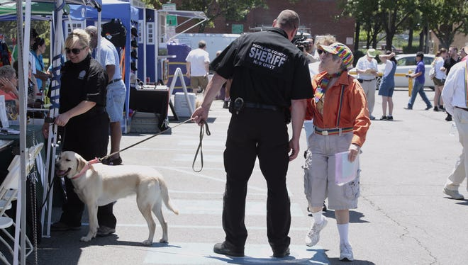 Rockland County Pride Sunday in Nyack had an increase in law enforcement presence in the wake of the mass shooting in Orlando on Sunday, June 12, 2016.