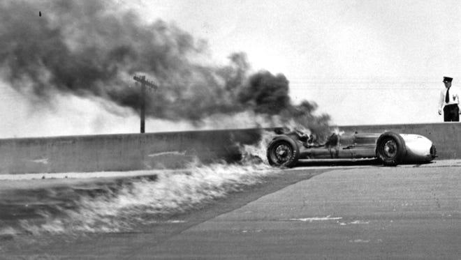 Duke Nalon in a fiery crash