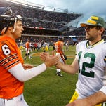 Chicago Bears quarterback Jay Cutler and counterpart Aaron Rodgers of the Green Bay Packers have faced off eight times.