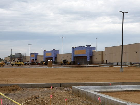 Construction continues on The Shoppes at Lake Lorraine.