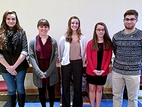 Five high school seniors were recently honored with